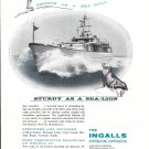 Old Ingalls Shipbuilding Corp Ad- Nice Drawing of Rhonda II