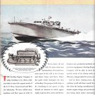 1944 WW II Sterling Engine Color Ad- Nice Drawing PT Boat