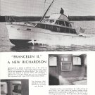 "1957 Richardson 43' Custom Sport Cruiser Ad- Great Photo ""Francelen II"""