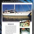 "1999 Northrup & Johnson Yacht Color Ad- Nice Photo of ""Monsoon II"""