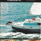 1974 Columbia 45 Yacht 2 Page Color Ad- Great Photo