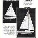 1974 Larship East Wind & 21' Sailboats Ad- Drawing