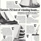 1974 Tartan Marine Co Ad- Photos of 3 Models of Yachts