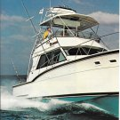 1983 AMF Hatteras Yacht 2 Page Color Ad- Nice Photo