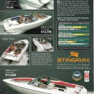 1994 Stingray Powerboats Color Ad- Photos of 5 Models