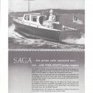 "1946 Hall- Scott Motor Car Co Ad- Nice Photo Charles Payson Yacht ""Saga"""