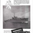 1944 WW II Hubbard's South Coast Co Ad- Nice Photo of Frigate 42