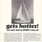1969 Jensen Marine Ad- Nice Photo of Cal 2-30 Sailboat