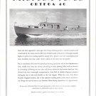 1950 Huckins Yacht Corp Ad- Great Photo of Ortega 40