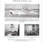 1947 Huckins Yacht Corp Ad- Nice Photos of Neptune 45