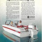 1973 Chrysler Marine Color Ad-Nice Photo 55 HP Outboard & Chrysler Boat-Hot Girl