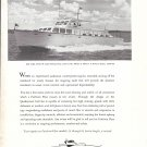 1957 Huckins Yacht Corp Ad- Nice Photo of Pacific 60