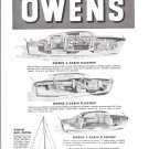 1946 Owens Yacht Company Ad- Drawings of 3 Models