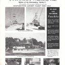 1957 Broward Marine Inc Ad- Photos of 40' & 57' Broward Yachts
