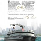 2005 Avalon Pontoon Boats Color Ad- Nice Photo