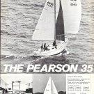 1972 Pearson 35 Yacht 2 Page Ad- Nice Photos