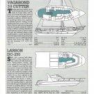 1985 Vagabond 39 & Larson DC-250 New Boats Reviews & Specs- Drawings