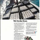 1973 Wellcraft Marine Color Ad- Nice Photo of Airslot Boat