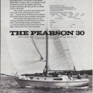Old Pearson 30 Yacht Ad- Nice Photo & Specs