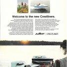 Old AMF Crestliner Boats Color Ad- Nice Photo of 2 Models