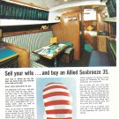 1979 Allied Seabreeze 35 Yacht Color Ad- Nice Photos