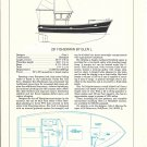 1977 Glen L Marine 26' Fisherman Yacht Review & Specs- Drawing
