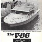 1972 SeaBird V-36 Boat Ad- Nice Photo