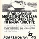 1973 Pearson Yachts Ad- Nice Photo of Portsmouth 43