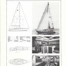Old Jensen Marine Cal 39 Sailboat Ad- Specs & Nice Photos