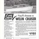1950 Welin 26' Cruiser Yacht Ad- Nice Photo