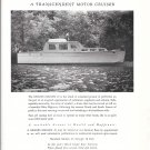 1950 Huckins Yacht Corp Ad- Nice Photo of Grand Maran 45