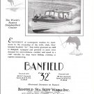 1929 Banfield Sea Skiff Works Ad- Nice Photo Banfield 32