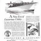 1929 Corsair Cruisader 30' Yacht Ad- Nice Drawing