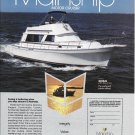 1987 Mainship Motor Cruiser Color Ad- Nice Photo