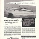 1958 Norseman Marine Engines Ad- Photo of Steel Clipper 40 Yacht