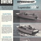 1958 Owens Speedship 19' Boats Ad- Nice Photos of 3 Models