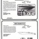 1987 Cigarette 31 & Sonic 30SS New Boats Reviews & Specs- Photo & Drawing