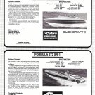 1987 Formula 272 SR-1 & Slickcraft 237 SC New Boats Reviews & Specs- Photos