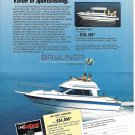 1987 Bayliner 2560 Trophy Convertible Boat Color Ad- Nice Photo