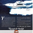 1987 Spindrift Ranger 47' Yacht Color Ad- Nice Photo