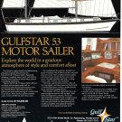 1975 Gulfstar 53 Motor Sailer Yacht Color Ad- Drawing