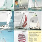 1975 Pearson Yachts 2 Page Color Ad- Photos of 11 Models