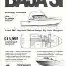 1974 Southampton Marine Corp Ad- Photo & Drawing of Baja 31 Boat