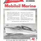 1945 Mobilgas- Mobiloil Marine Ad- Nice Drawing of Owens 33' Boat