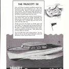 1945 Truscott Boat Co Ad- Drawing of Truscott 28