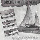 1945 Henry C Grebe Co Yachts Ad- Photos of 4 Models