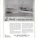 1945 Matthews 38' Raised Deck Sedan Yacht Ad- Nice Photo