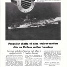 1945 B F Goodrich Bearings Ad-Nice Photo of U.S.S. San Jacinta Carrier