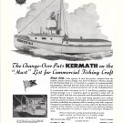 1945 Kermath Marine Engines Ad- Photo of Fishing Boat Porfico No. 1