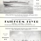 1945 Huckins Yacht Corp 2 Page Ad- Nice Drawings of 4 Models